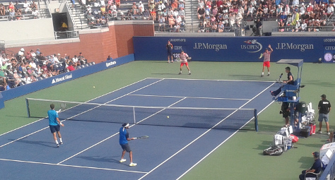Crutial 2 ball active point at the U.S. Open
